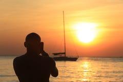 Pattaya, Tailandia - 21 de diciembre: ocio marino en la playa en Fotografía de archivo libre de regalías