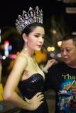 Pattaya tailandia Demostración del travestido de Tiffany Foto de archivo libre de regalías