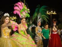 Pattaya tailandia Demostración del travestido de Tiffany Imagen de archivo libre de regalías