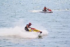 PATTAYA, TAILANDIA 9 DICEMBRE: Concorrenti al Gran Premio 2012 della coppa del Mondo della tazza di Jet Ski King Immagine Stock