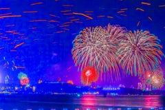 Pattaya, Tailandia - 31 dicembre 2012 - 1° gennaio 2013: Variopinto Fotografie Stock Libere da Diritti