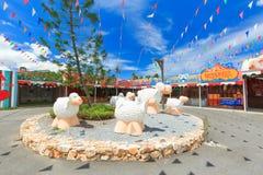 PATTAYA, TAILANDIA - 15 DICEMBRE 2016: L'allevamento di pecore svizzero Whe Fotografie Stock