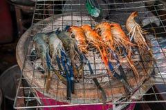 Pattaya, Tailandia enarena el bocado asado a la parrilla los mariscos del camarón de la isla Fotografía de archivo libre de regalías