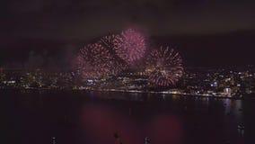 Pattaya Tailandia I fuochi d'artificio internazionali mostrano il festival stock footage