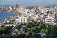 Pattaya, Tajlandia - 08 22 2015: Śródmieście Pattaya, miejscowość wypoczynkowa na brzegowym Tajlandia dniem Obrazy Stock