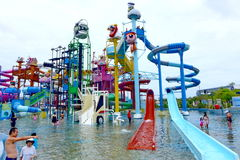 PATTAYA, Tajlandia Cartoon Network Amazone wody park fotografia royalty free