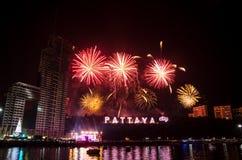 PATTAYA, TAJLANDIA - odliczanie 2015, Tajlandia Obraz Royalty Free