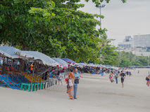PATTAYA, THAÏLANDE - 20 AOÛT 2017 : Paysage de Pattaya de ville Photo stock