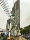 Pattaya, Thaïlande - 21 janvier 2016 : Les nouveaux gratte-ciel Image libre de droits
