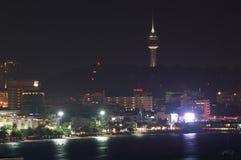 PATTAYA, THAÏLANDE - novembre 21,2013 : Temps crépusculaire à Pattaya c Image libre de droits