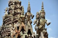 Pattaya, Thaïlande : Sanctuaire des découpages de vérité Image libre de droits