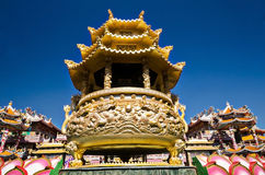 PATTAYA,THAILAND - APRIL 21 Naja statue of Chinese shrine temple stock photography
