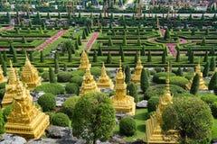PATTAYA, THAILAND - APRIL 24, 2019 : Tourist visit giant dinosaur Valley at Nong Nooch Garden royalty free stock images