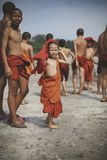 PATTAYA THAILAND - APRIL16,2018 : unidentified group of buddhist Royalty Free Stock Photo