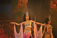 PATTAYA, THAILAND - AUGUST 30. Performance of the actors  Royalty Free Stock Photography
