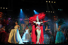 PATTAYA, THAILAND - AUGUST 30. Performance of the actors Stock Photo