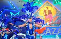 PATTAYA THAILAND - AUGUSTI 30 Kapacitet av skådespelarna Arkivbilder