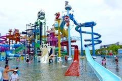 PATTAYA, Thailand, The Cartoon Network Amazone Water Park. PATTAYA, Thailand - July 18, 2015: The Cartoonival zone in Cartoon Network Amazone Water Park, the Royalty Free Stock Photography