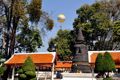 Pattaya, Thailand: Chedi & Bell Cloister at Thai Wat Royalty Free Stock Photos