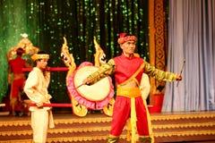 PATTAYA, THAILAND -  DECEMBER 2012, Traditional Thai show Stock Photos