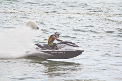 PATTAYA, THAILAND-DECEMBER 9: Competitors at Jet Ski King's Cup World Cup Grand Prix 2012 Stock Photography