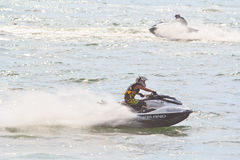 PATTAYA, THAILAND-DECEMBER 9: Competitors at Jet Ski King's Cup World Cup Grand Prix 2012 Royalty Free Stock Photography