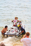 PATTAYA, THAILAND-DECEMBER 9: Competitors at Jet Ski King's Cup World Cup Grand Prix 2012 Royalty Free Stock Image