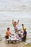 PATTAYA, THAILAND-DECEMBER 9: Competitors at Jet Ski King's Cup World Cup Grand Prix 2012 Stock Images