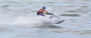 PATTAYA, THAILAND-DECEMBER 9: Competitors at Jet Ski King's Cup World Cup Grand Prix 2012 Stock Image
