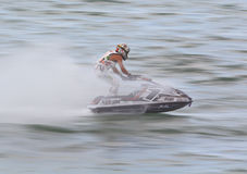 PATTAYA, THAILAND-DECEMBER 9: Competitors at Jet Ski King's Cup World Cup Grand Prix 2012 Royalty Free Stock Images