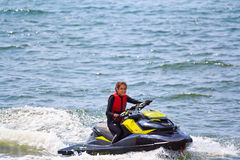 PATTAYA, THAILAND-DECEMBER 9: Competitors at Jet Ski King's Cup World Cup Grand Prix 2012 Stock Photos