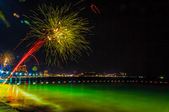 Pattaya, Thailand - December 31, 1 2012-januari, 2013: Kleurrijk Royalty-vrije Stock Foto