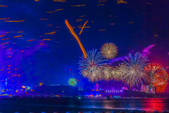 Pattaya, Thailand - 31. Dezember 2012 - 1. Januar 2013: Bunt Lizenzfreie Stockfotos
