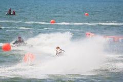 PATTAYA, THAILAND 9. DEZEMBER: Konkurrenten Jet Ski Kings am Cup-Weltcup Grandprix 2012 Stockbilder