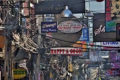 PATTAYA, THAILAND - FEBRUARY 2014: Nightlife with prostitution Stock Photos