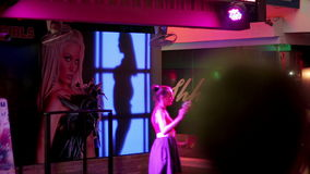 PATTAYA,THAILAND - FEBRUARY 2014: Nightlife with prostitution stock video