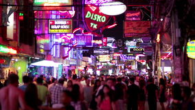 PATTAYA,THAILAND - FEBRUARY 2014: Nightlife with prostitution stock video footage