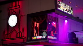 PATTAYA,THAILAND - FEBRUARY 2014: Nightlife with prostitution stock footage