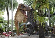 Tyrannosaurus Rex in the park of Madame Nong Nooch. Pattaya,Thailand- February 23,2018: Tyrannosaurus Rex in the park of Madame Nong Nooch Royalty Free Stock Photography