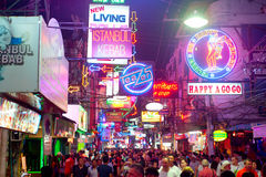 Walking Street Royalty Free Stock Photo