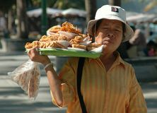 Pattaya, Thailand: Food Vendor on Beach Road Royalty Free Stock Photo