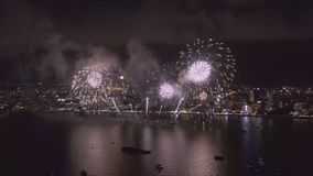 Pattaya Thailand Het internationale vuurwerk toont festival stock footage