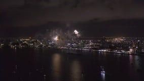Pattaya Thailand Het internationale vuurwerk toont festival stock video