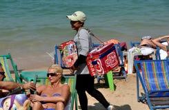 Pattaya, Thailand: Ice Cream Vendor on Beach Stock Photos