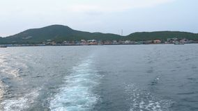 View from the Ferry which leaves from the island of Koh Larn. Thailand. Pattaya. PATTAYA, THAILAND, JANUARY 9, 2018: View from the Ferry which leaves from the stock footage