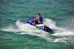 Pattaya, Thailand: Man on a Jet Ski Boat Stock Photo