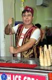 Pattaya, Thailand: Man Selling Turkish Ice Cream Stock Images