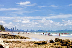 PATTAYA THAILAND -MAY 26, 2013: Many people many activities on t Royalty Free Stock Images