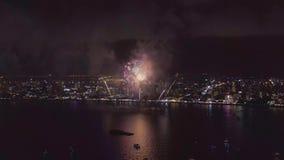 Pattaya Thailand - Mei, 24 2019 Internationaal vuurwerk toont festival 2019 stock videobeelden