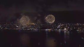 Pattaya Thailand-Mei, 24 2019 Internationaal vuurwerk toont festival 2019 stock footage